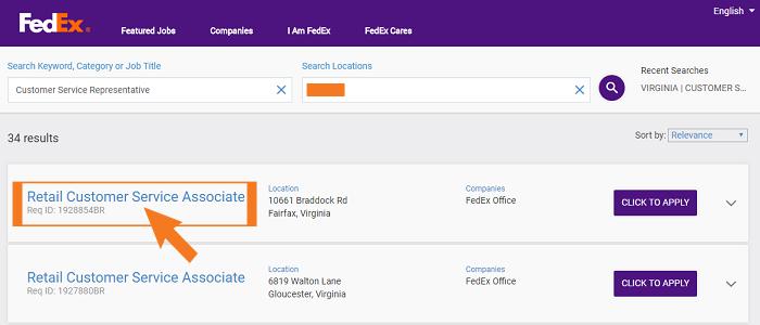 FedEx Job Application Guide Step 2