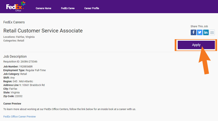 FedEx Job Application Guide Step 3 ...  Fedex Careers