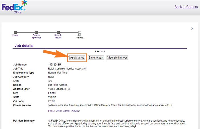 FedEx Job Application Guide Step 4