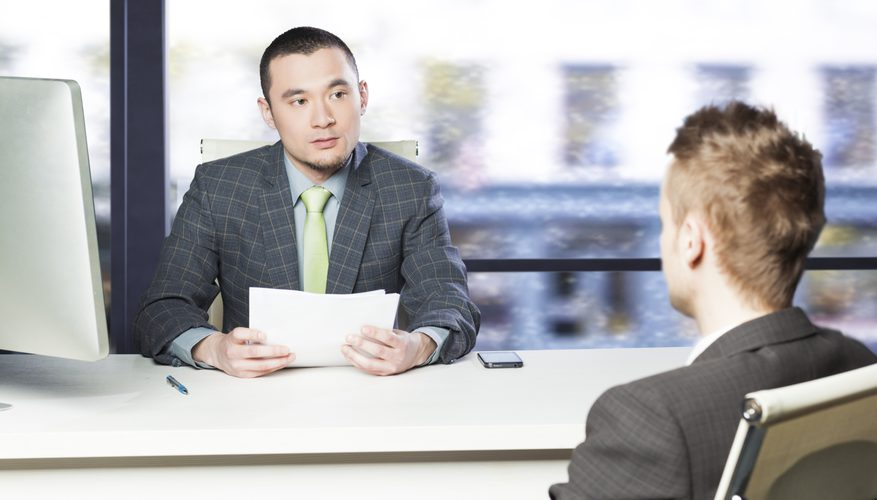 asking questions to the interviewee