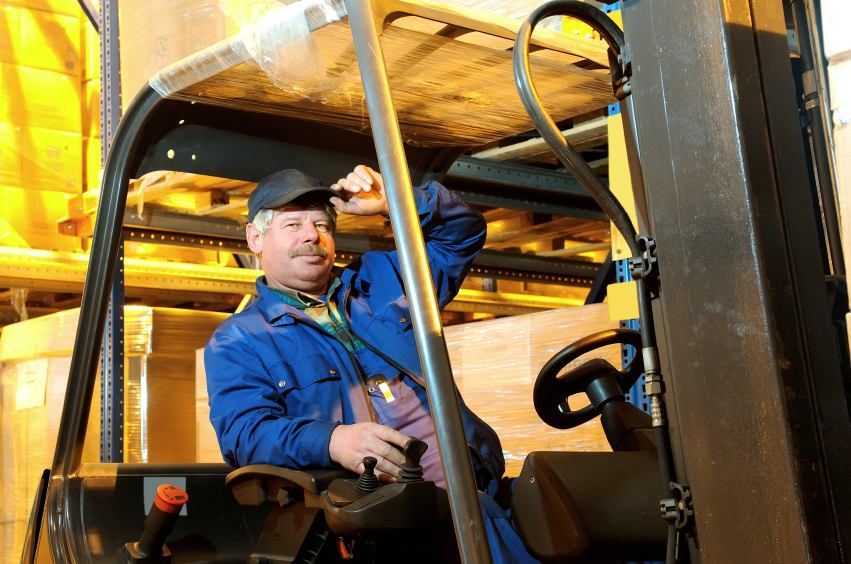 forklift loader worker