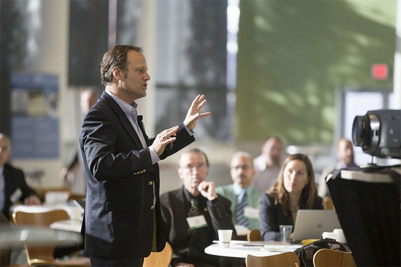 speaker in a presentation