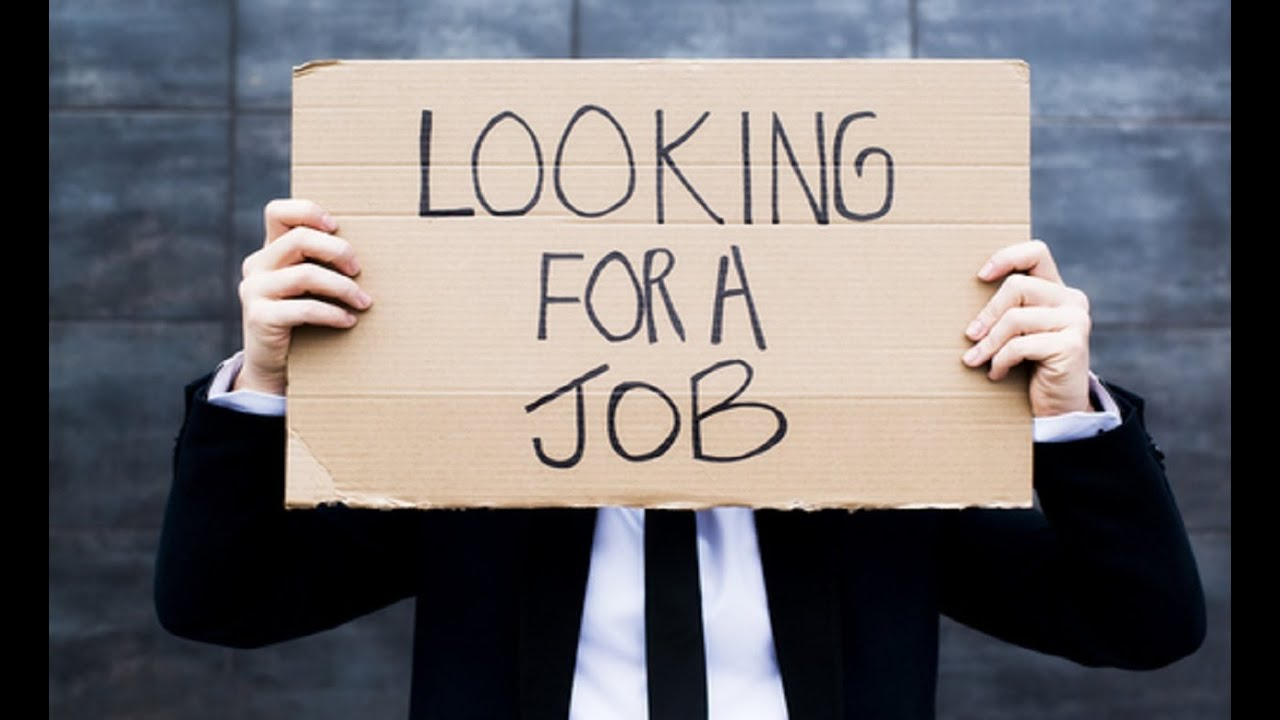 looking for a job sign